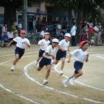 運動会の徒競走